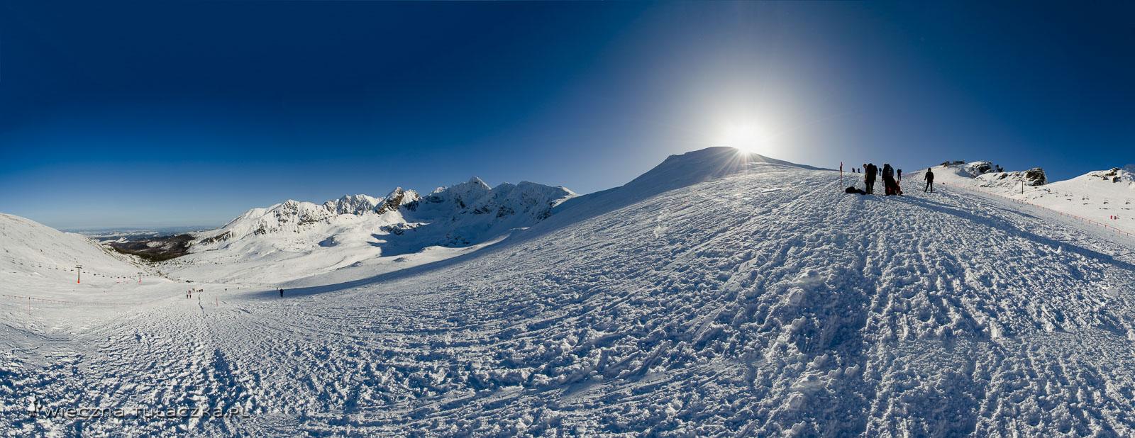 Zimowy szlak na Kasprowy Wierch przez Suchą Przełęcz