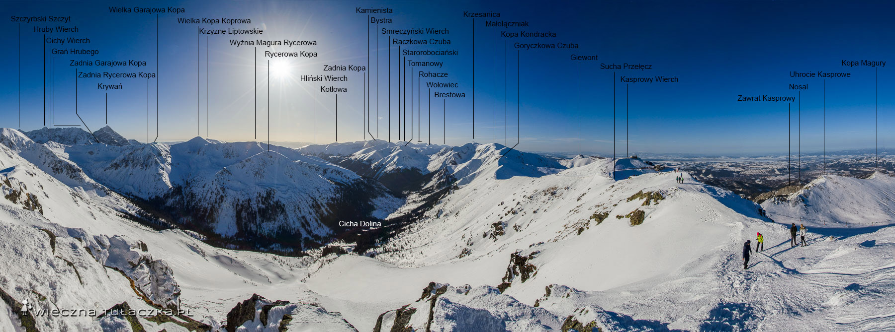 Zimowa panorama z Beskidu