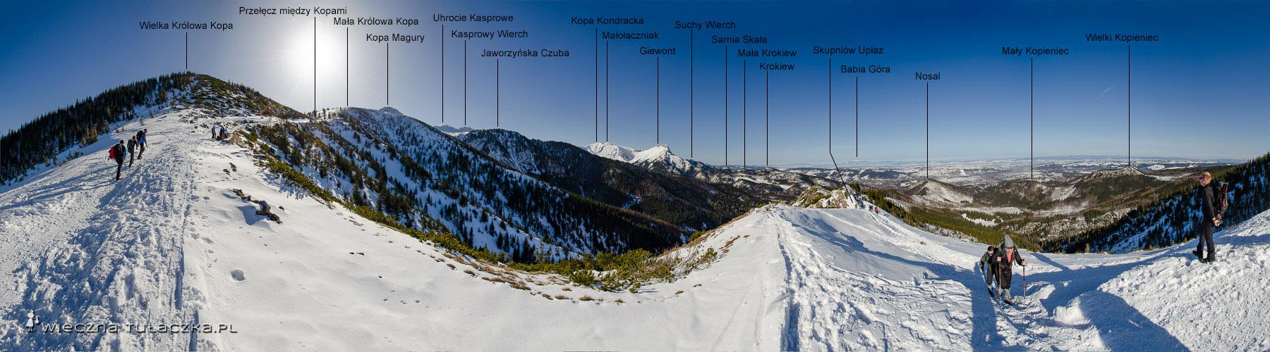 Zimowy szlak na Halę Gąsienicową