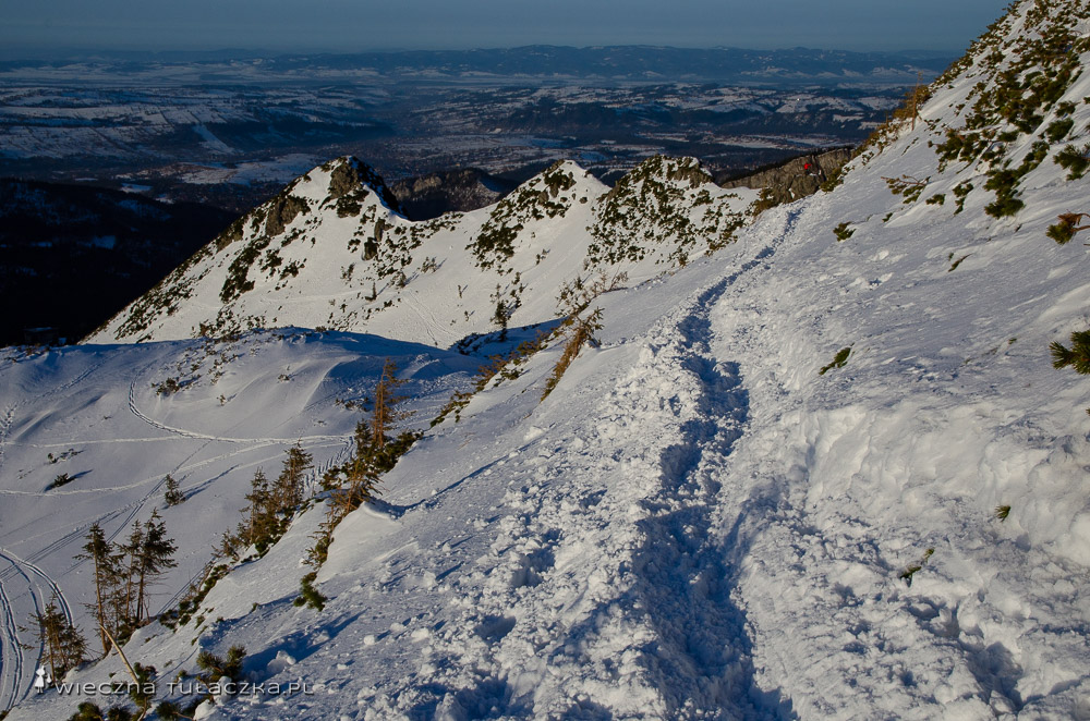 Zimowy szlak na Kasprowy przez Myślenickie Turnie