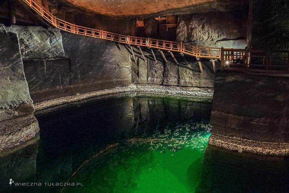 Podziemne jeziorka w Wieliczce
