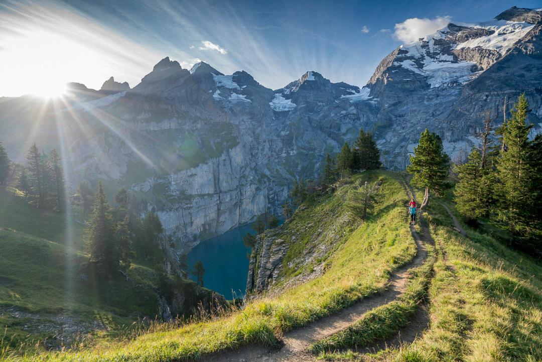 Via Alpina, jezioro Oeschinensee