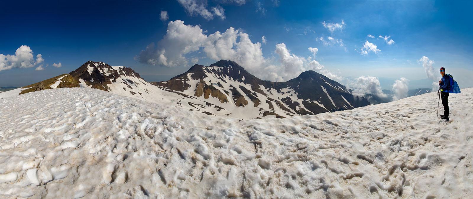 Aragats - wejście na cztery wierzchołki.