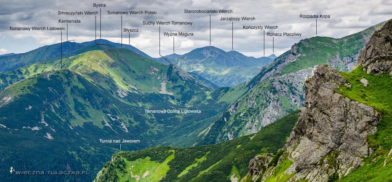 Szlak przez Suche Czuby w Tatrach