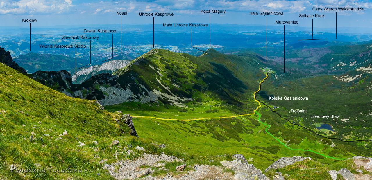 Panorama z Suchej Przełęczy