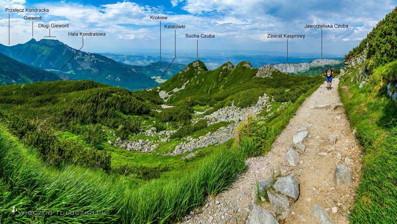 Zielony szlak na Kasprowy Wierch