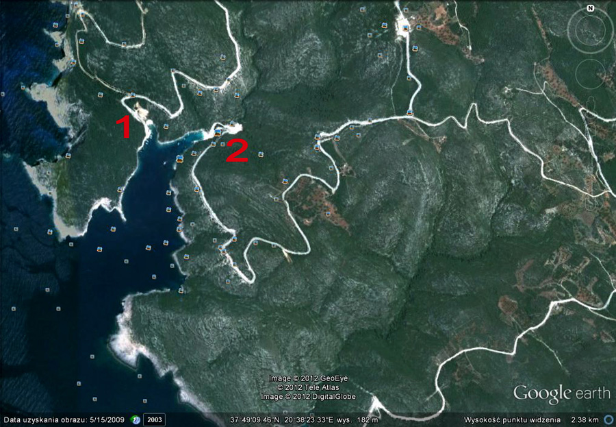 mapa Vromi