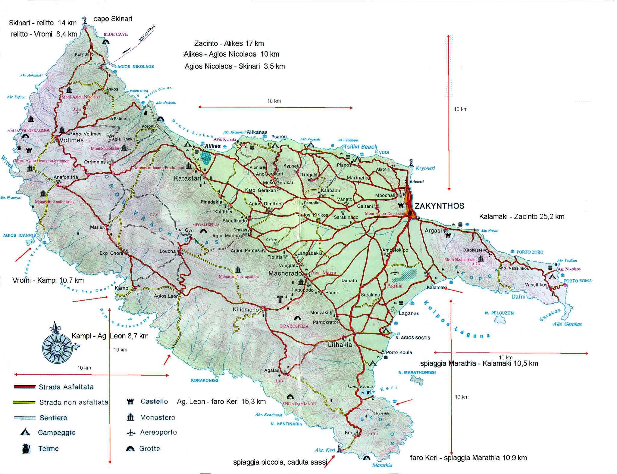 mapa Zakynthos