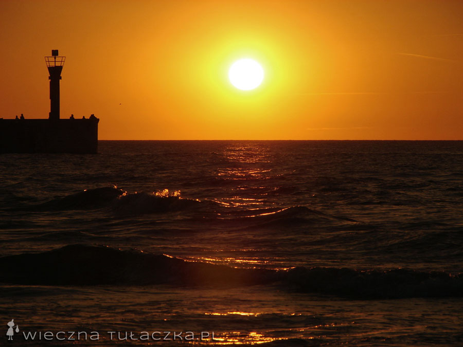 Bałtyk zachód słońca