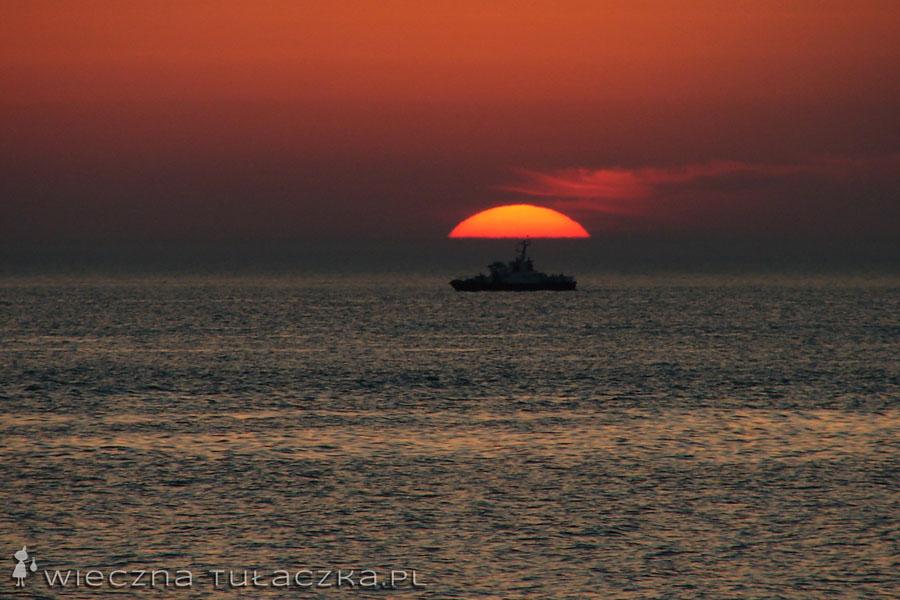 statek na Bałtyku