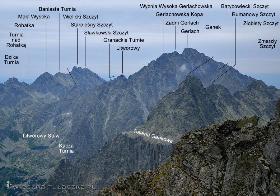 Zbliżenie na Gerlach oraz Ganek