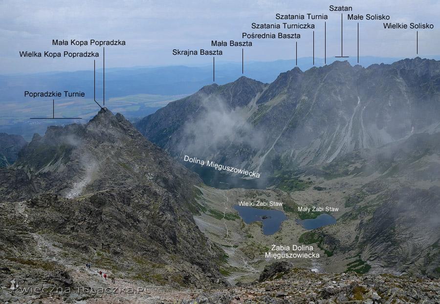 Widok z Rysów na stronę Doliny Mięguszowieckiej
