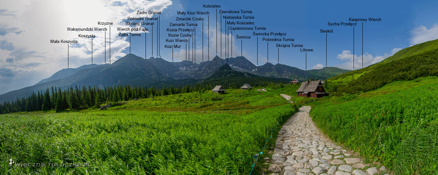 Panorama Hali Gąsienicowej