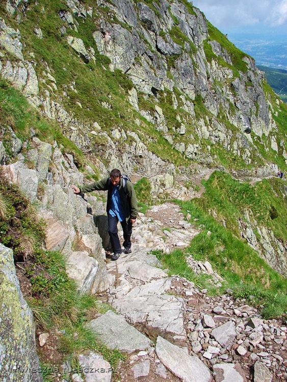 Opis szlaku na Świnicką Przełęcz