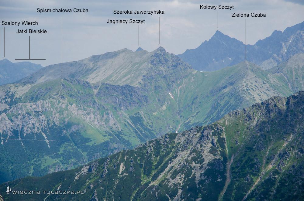 Szeroka Jaworzyńska ze Szpiglasowego Wierchu