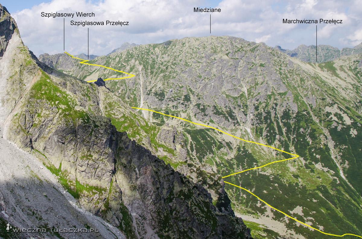 Szlak na Szpiglasową Przełęcz z Morskiego Oka