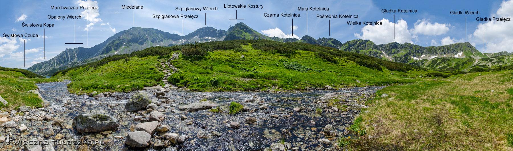 Dolina Pięciu Stawów, szlak na Szpiglasową Przełęcz