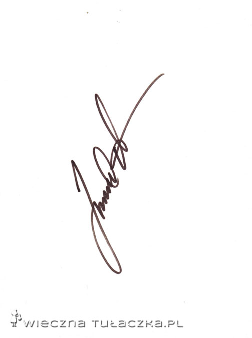 Janne Ahonen popisał się zdecydowanie najładniejszym autografem :) Ma tyle sukcesów na koncie, że stał się ikoną skoków narciarskich.