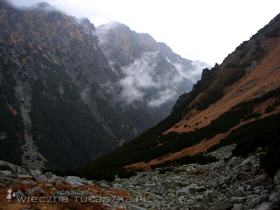 Coraz więcej chmur przybywa nad Dolinę Roztoki...