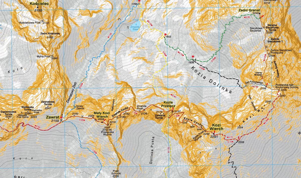 Orla Perć, mapa WiT