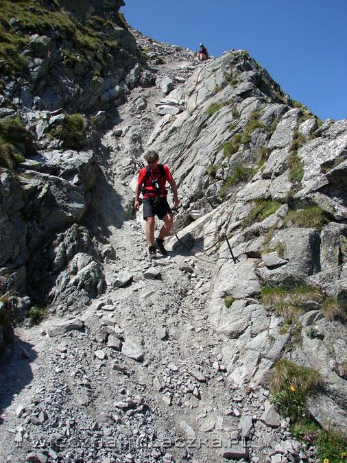 Zejście go Granackiej Przełęczy