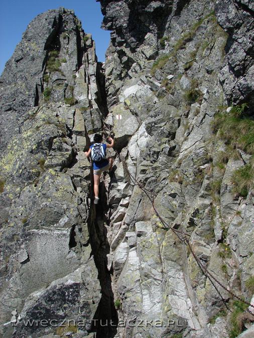 Na zdjęciu akurat podchodzę w górę (co okazało się o wiele łatwiejsze jak zejście), ale wrzucam fotę, bo widać proporcje.