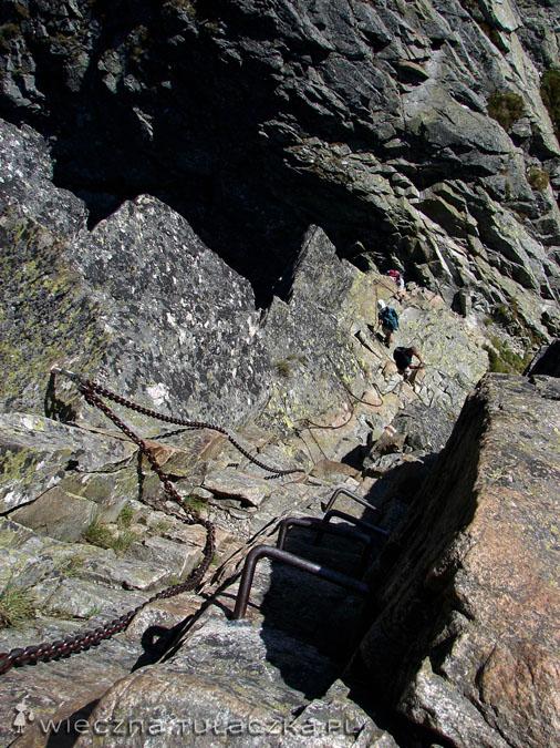 Zejście z Kozich Czub do Koziej Przełęczy Wyżniej