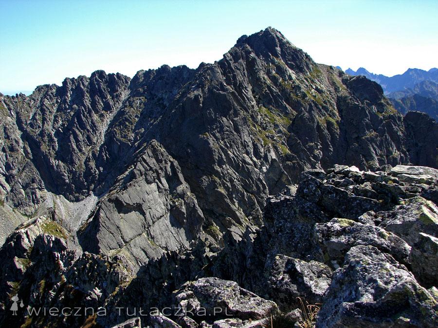 Widok z Małego Koziego Wierchu na szlak Orlej Perci