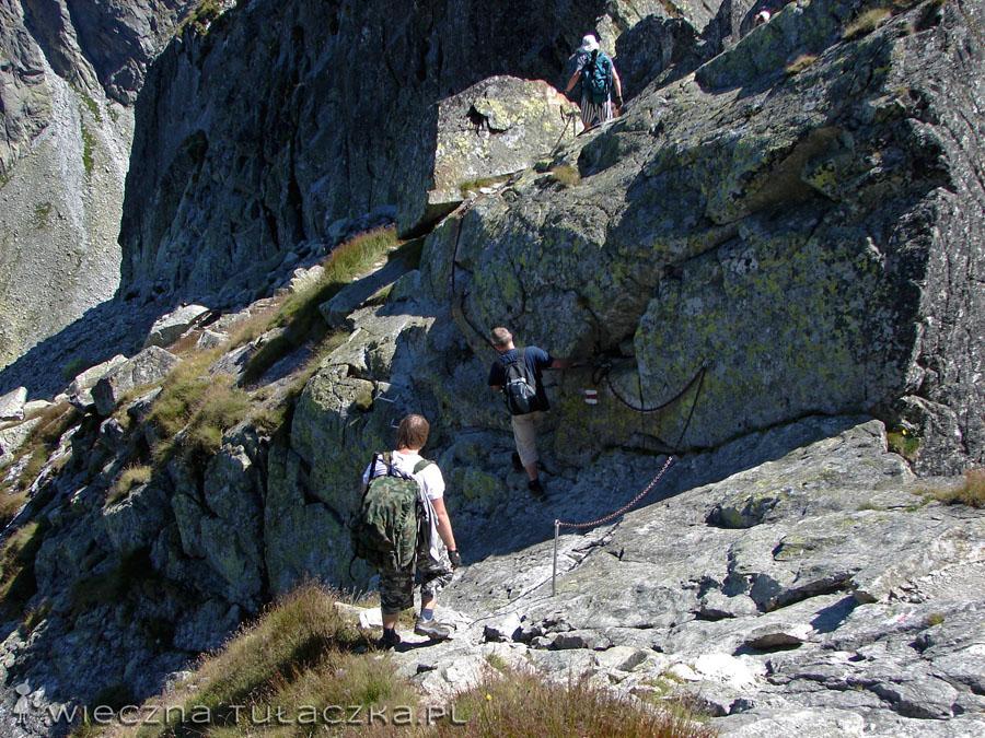 Zejście ze Zmarzłej Przełęczy