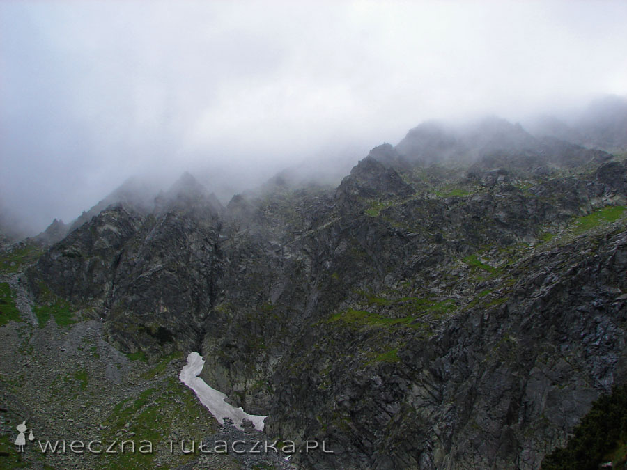 Ulewa z tych chmur szybko wybiła nam ten pomysł z głowy... Z podkulonymi ogonami wróciliśmy do Murowańca i przeczekaliśmy najgorszą zlewę.