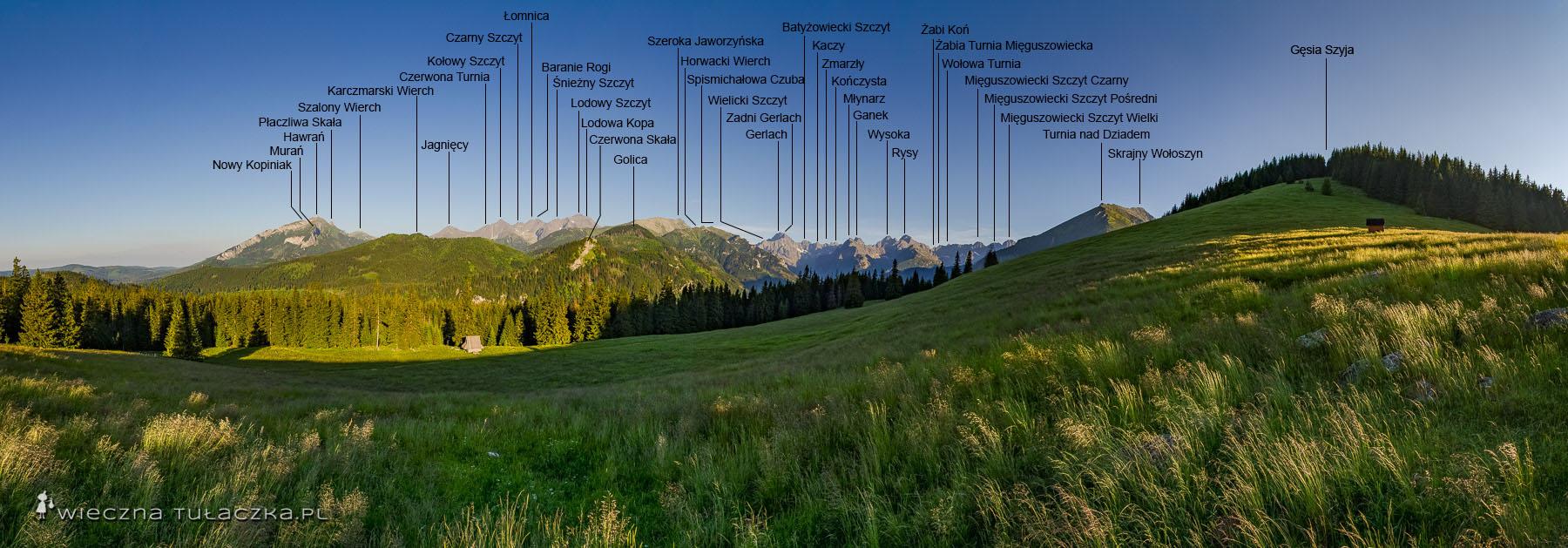 Panorama z Rusinowej Panoramy