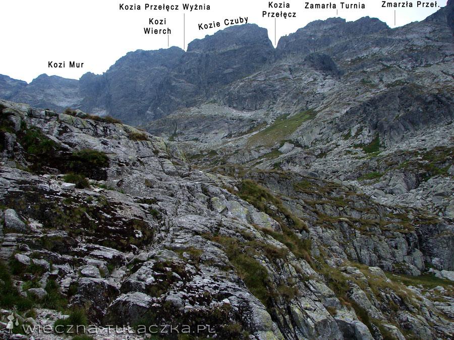 ...zerkamy jeszcze na legendarną Orlą Perć. Tak się składa, że jej najtrudniejsze fragmenty sąsiadują z tymi najłatwiejszymi, a Kozi Wierch, będący najwyższej punktem grani, stanowi granicę ;)