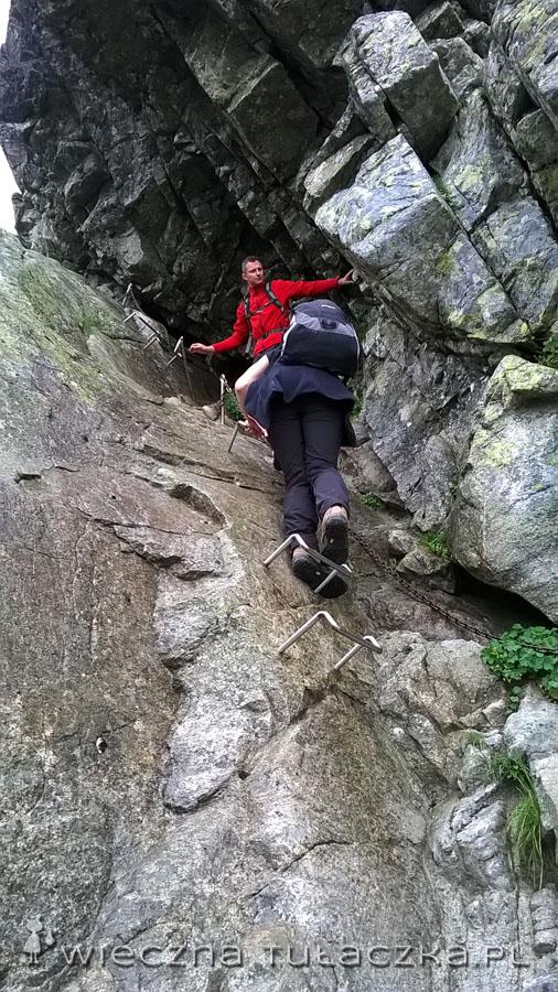 To miejsce okazało się najtrudniejsze tylko podczas schodzenia. Idąc w górę (nawet podczas deszczu) nie było już tak nerwowo.
