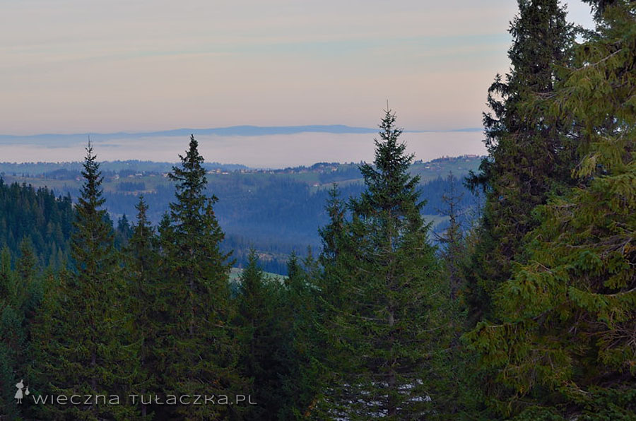 A z drugiej strony Podhale, pod chmurkami ;)