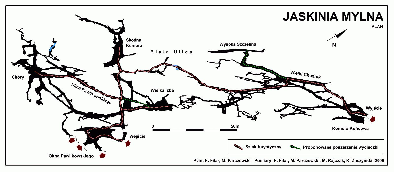 Jaskinia Mylna mapa
