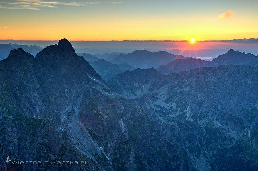 Zachód słońca na Niżnich Rysac