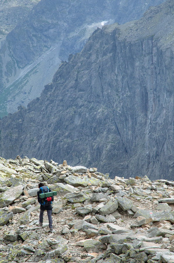Ganek z przełęczy Waga