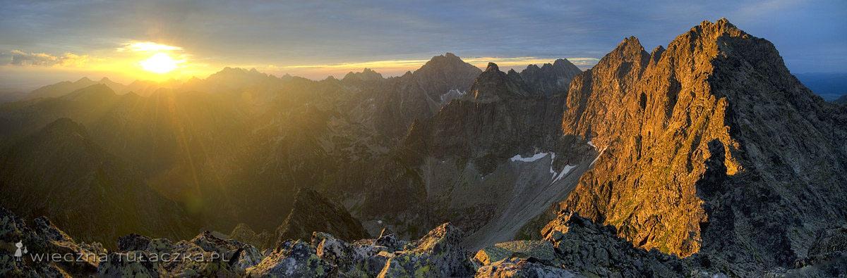 Panorama z Niżnich Rysów