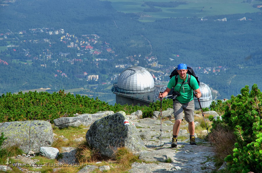 Tatrzańska Magistrala, widok na Obserwatorium Astronomiczne