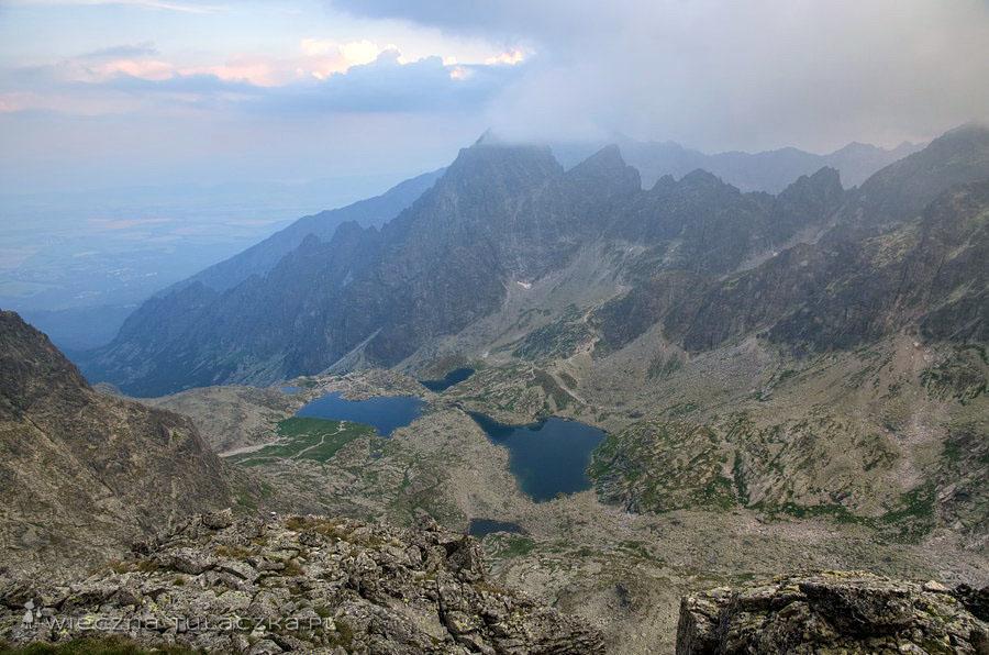 Baranie Rogi - widok na Dolinę Pięciu Stawów Spiskich