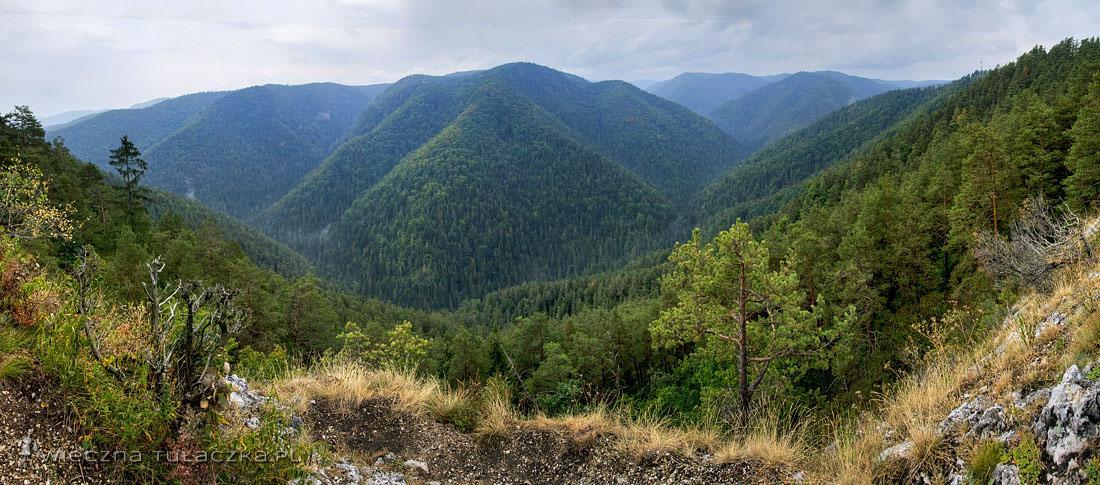 Klástorisko (839 m), panorama