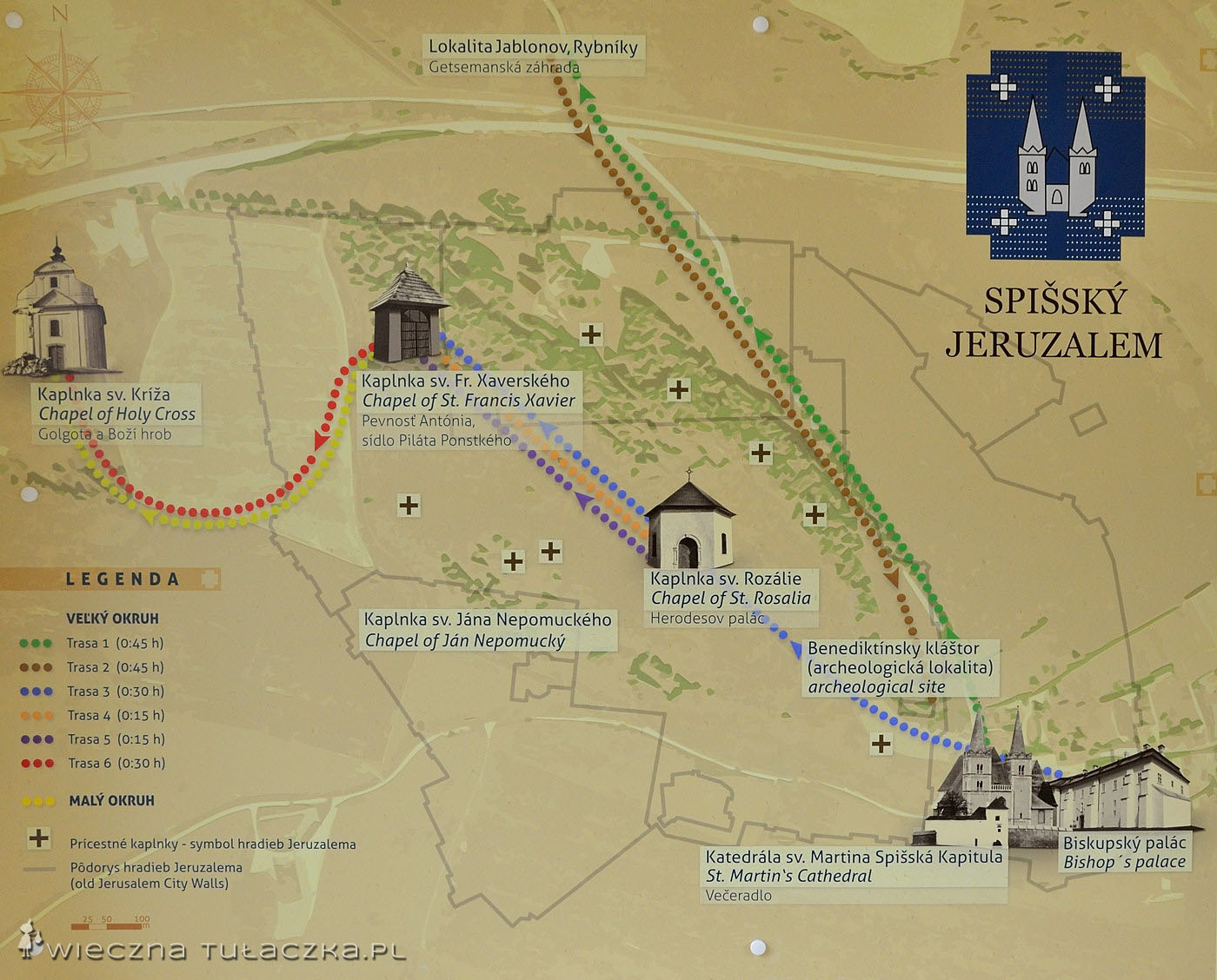 Spiska Jerozolima - mapa