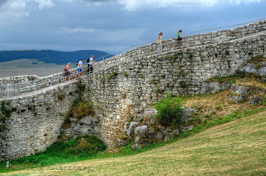 Zamek Spiski - mury
