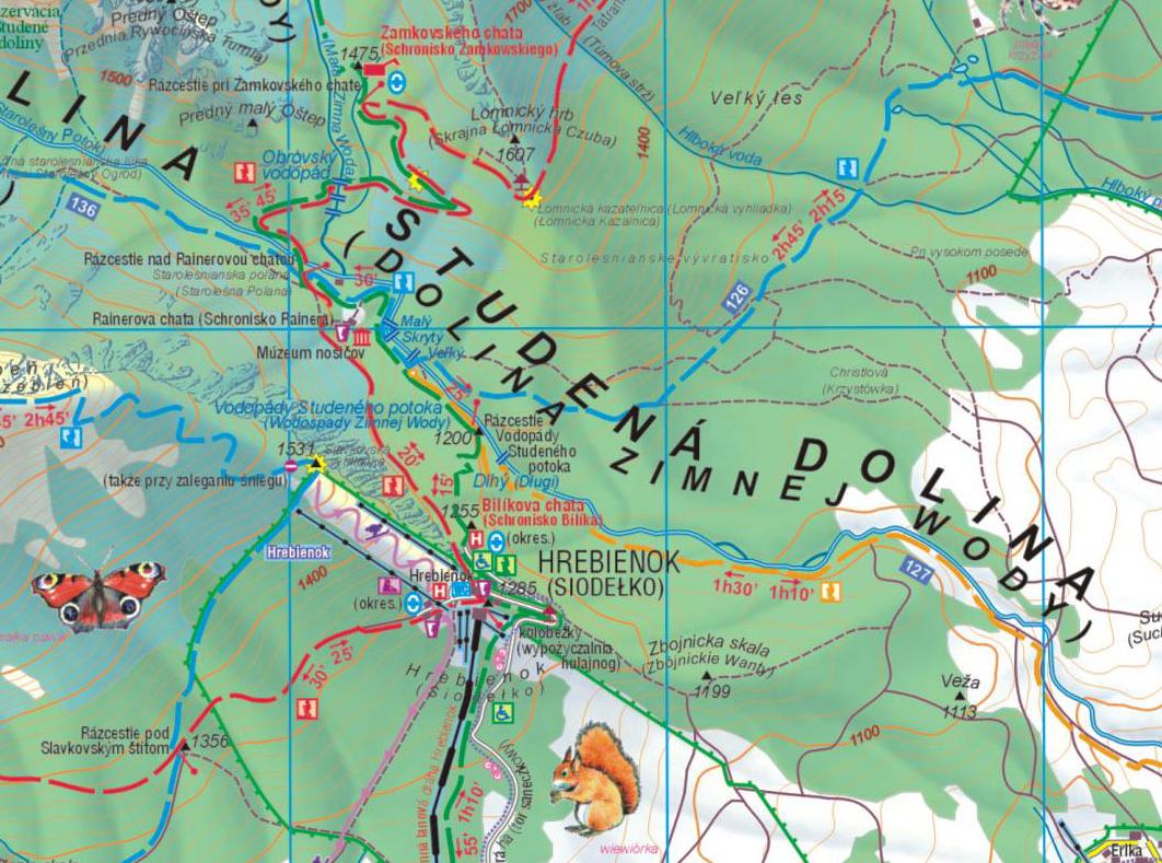 Dolina Zimnej Wody, mapa