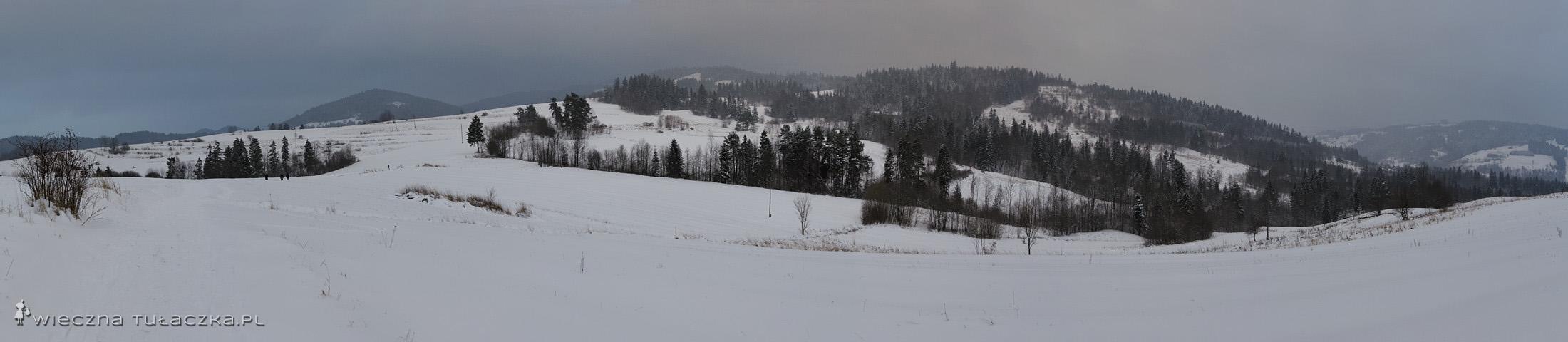 Czerwony szlak na Maciejową i Stare Wierchy