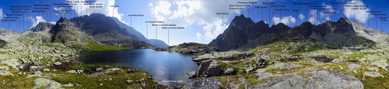 Dolina Pięciu Stawów Spiskich - opisana panorama