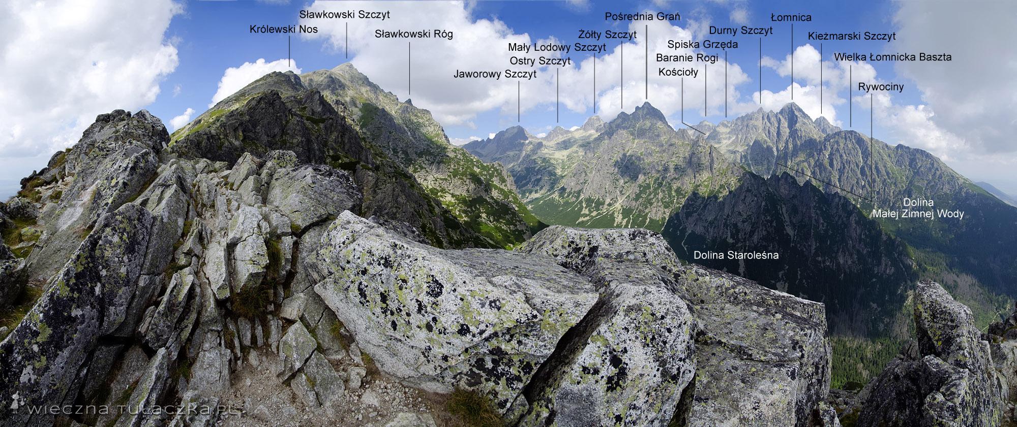 Panorama ze Sławkowskiego Grzebienia
