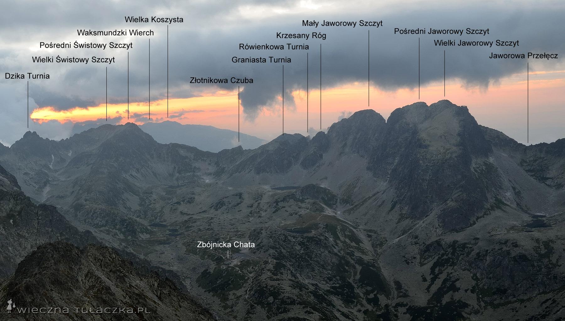 Widok ze Sławkowskiego Szczytu na Dolinę Staroleśną