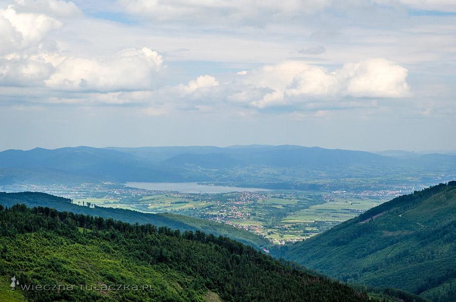 Jezioro Żywieckie z Zielonego Kopca