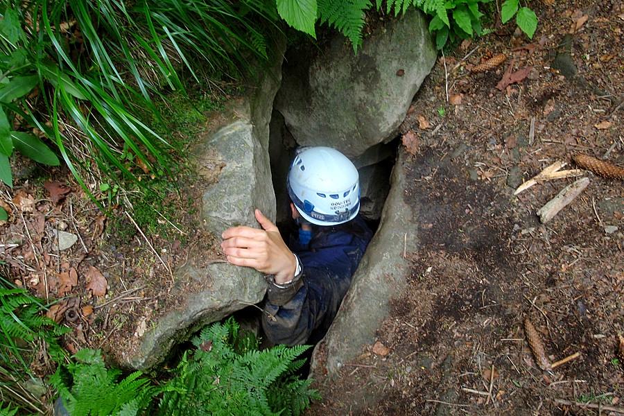 Jaskinia Salmopolska, wyjście